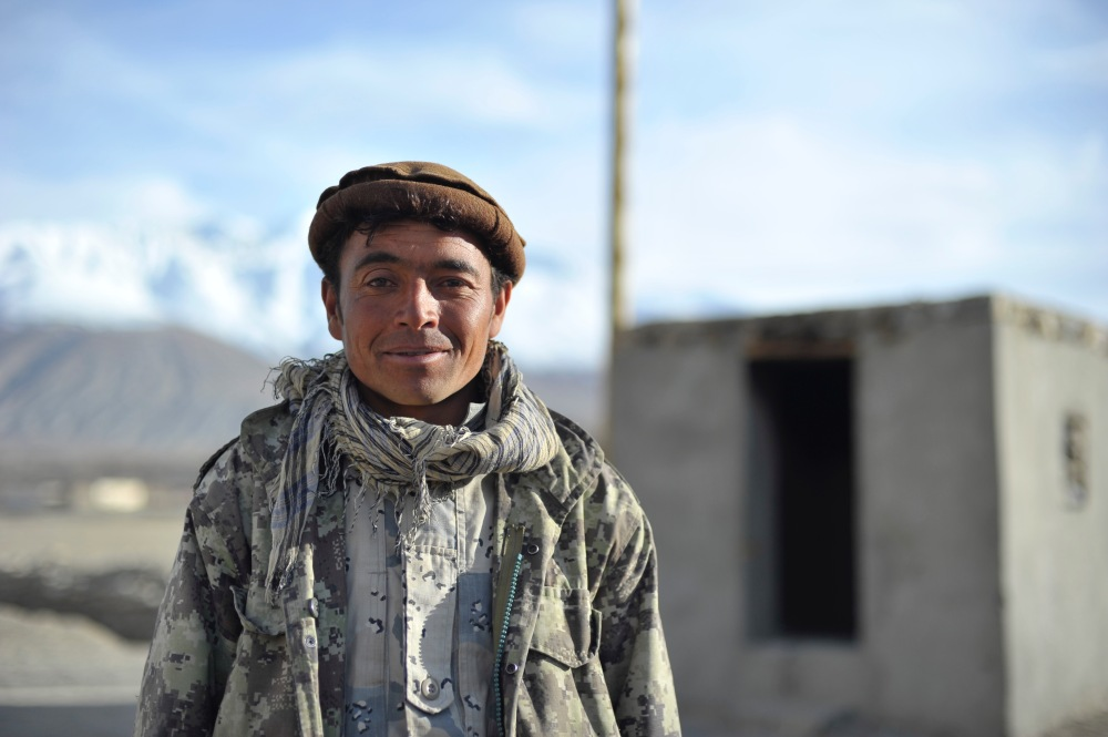 ANA Soldier at Garrison in Ishkashim, Badakhshan Province, Afghanista 1 April 2014