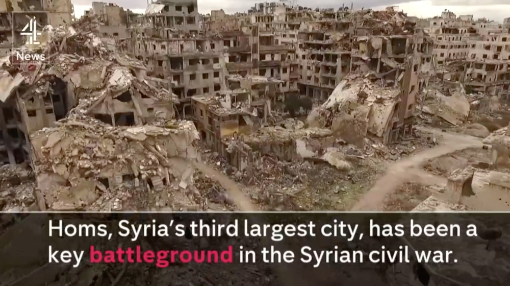 Drone Footage of Homs, Syria, in early 2016